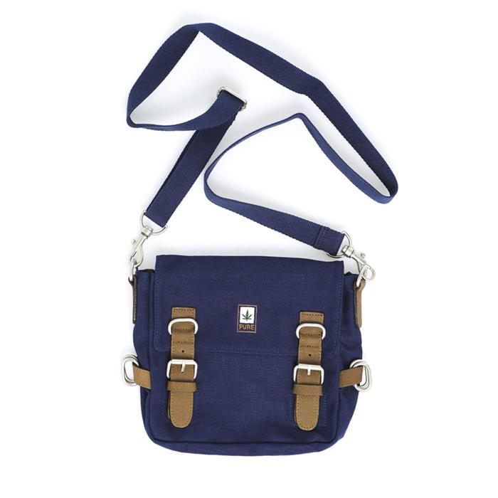 Hemp Shoulder / Belt Bag - Blue-0