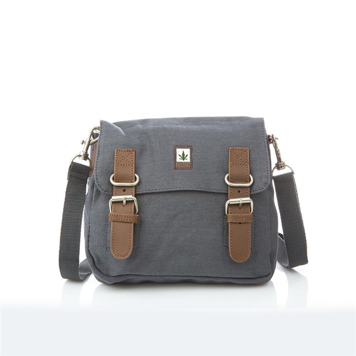 Hemp Shoulder / Belt Bag - Grey-0