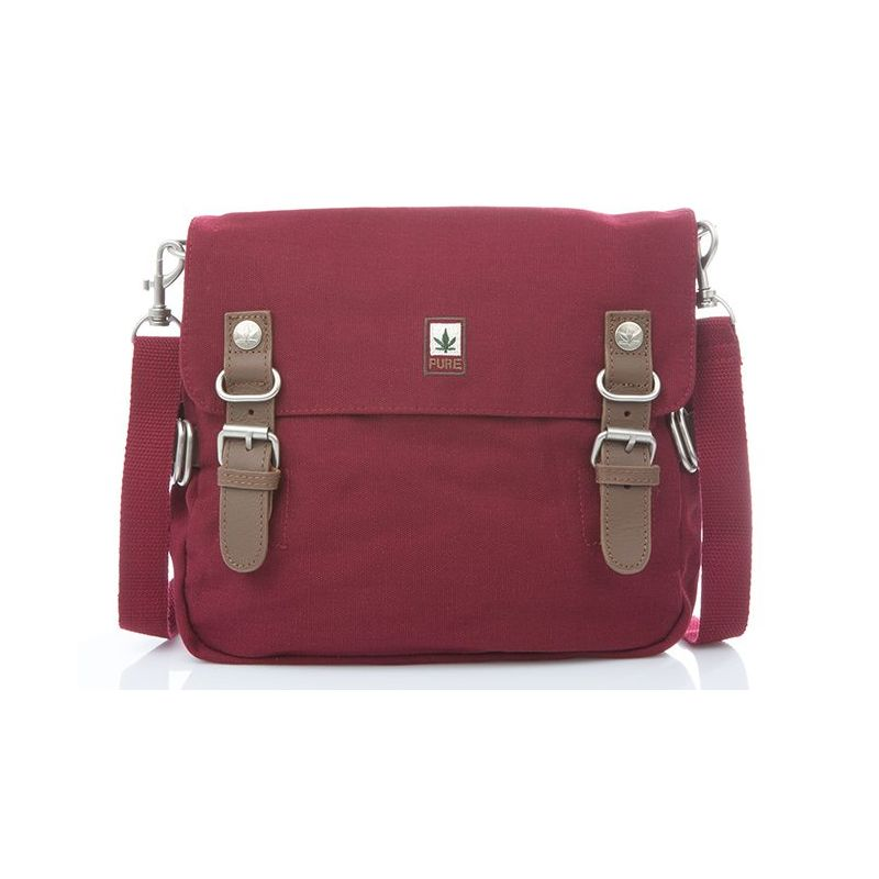 Hemp Shoulder Bag Medium - Red Bordeaux-0