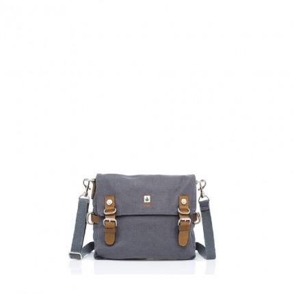 Hemp Shoulder Bag Medium - Grey-0