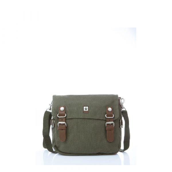 Hemp Shoulder Bag Medium - Khaki-0