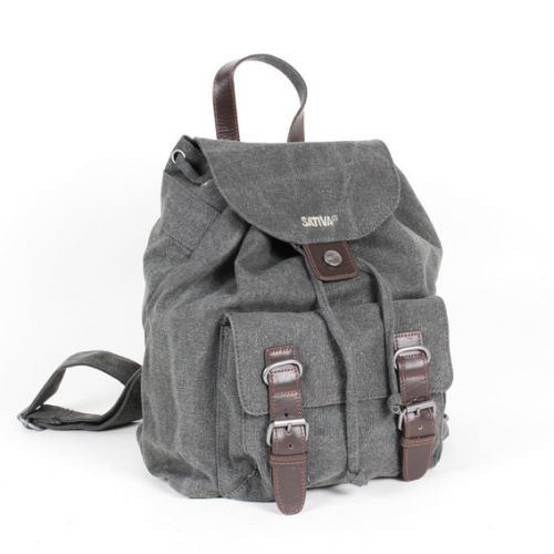 Hemp Single Rucksack - Grey-0