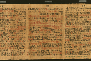 c.1550 BCE: The Ebers Papyrus from Ancient Egypt describes medical cannabis