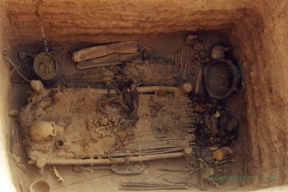 700 BCE: Shaman buried with weed in Gobi Desert