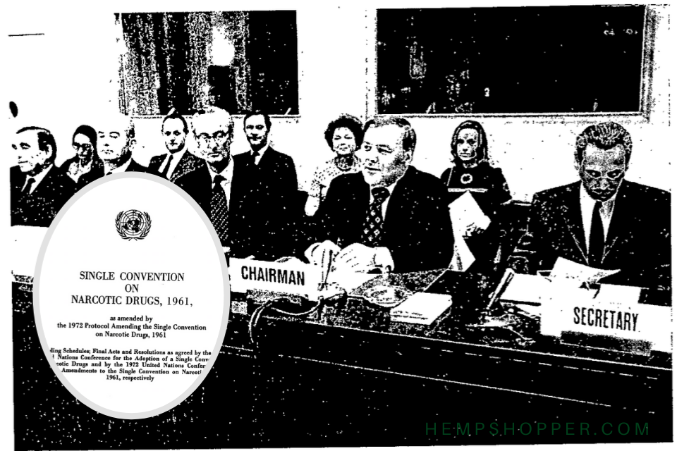 1961: Cannabis is added to the list of internationally controlled drugs