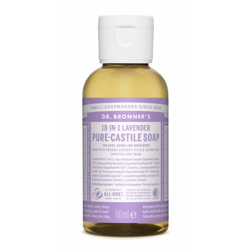 Buy Lavender Pure Castile Liquid Soap 60 ml