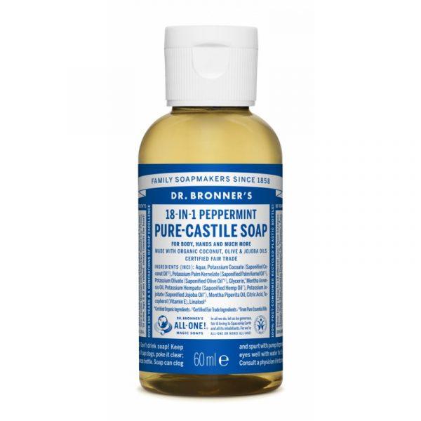 Buy Peppermint Pure - Castile Liquid Soap 60 ml