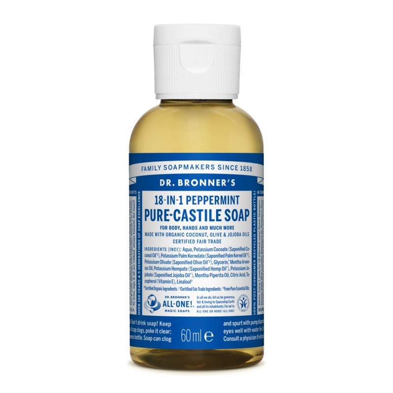 Buy Peppermint Pure - Castile Liquid Soap 60 ml
