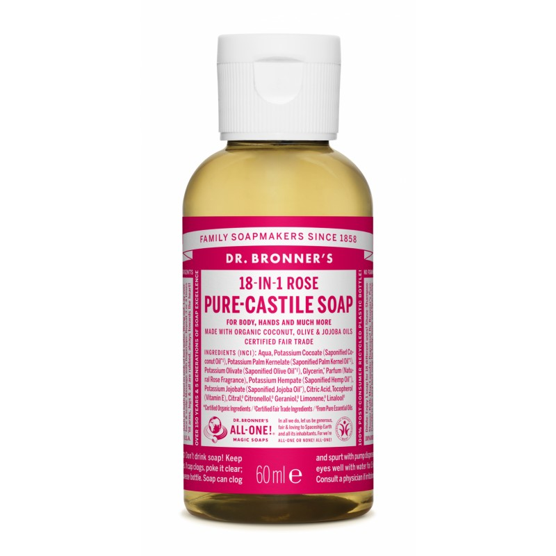 Buy Rose Pure Castile Liquid Soap
