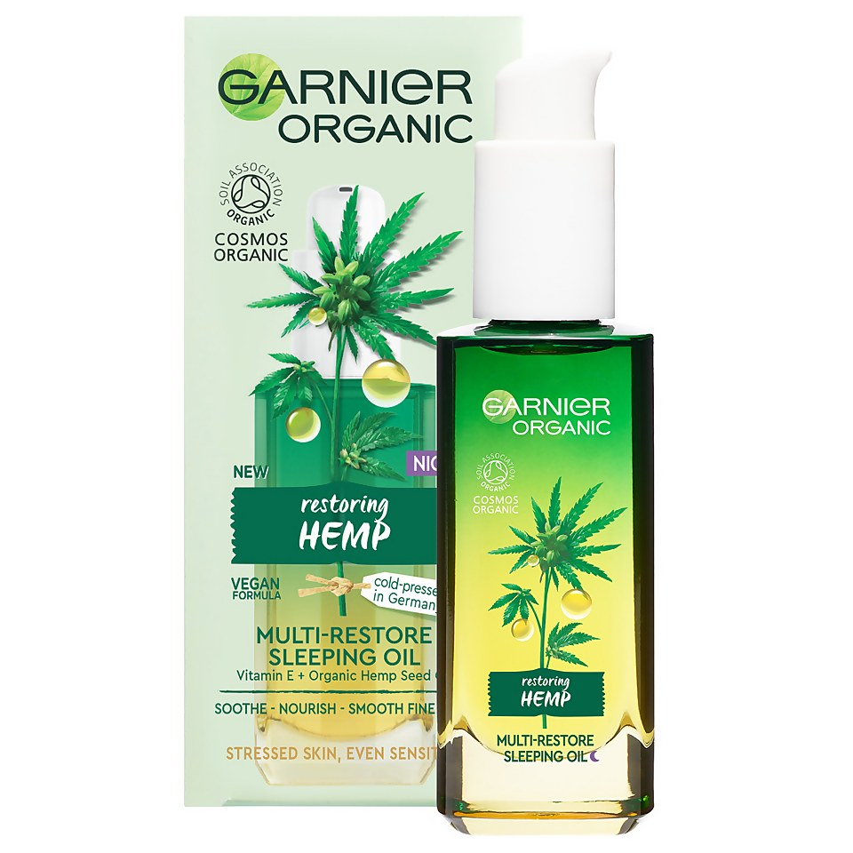 Garnier Organic Hemp Multi-Restore Facial Sleeping Oil