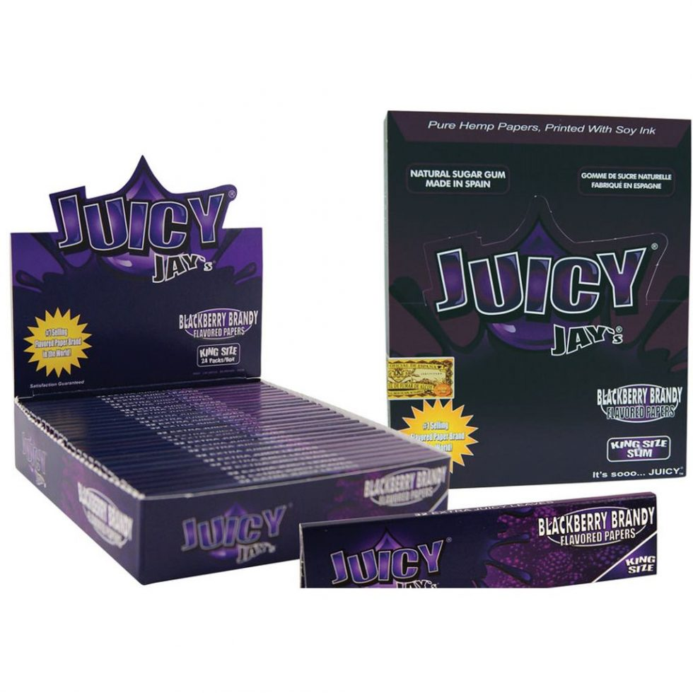 Juicy Jay's Blackberry Brandy KS rolling papers display - Juicy Jay