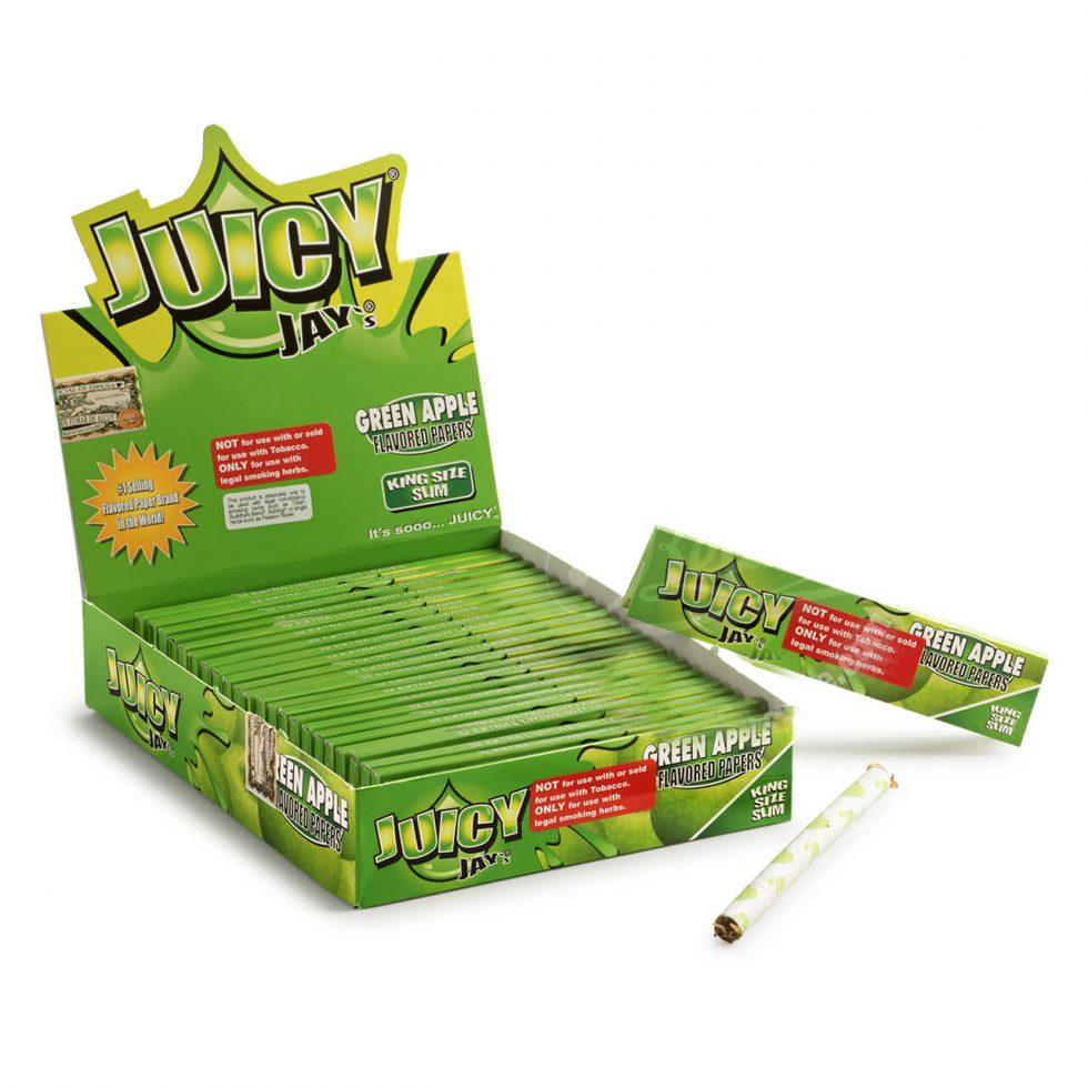 Juicy Jay's Green Apple KS rolling papers display - Juicy Jay